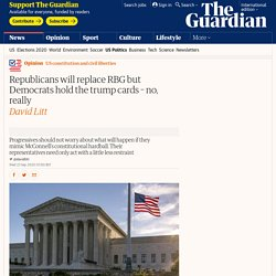 Republicans will replace RBG but Democrats hold the trump cards – no, really