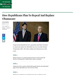 How Republicans Plan To Repeal And Replace Obamacare