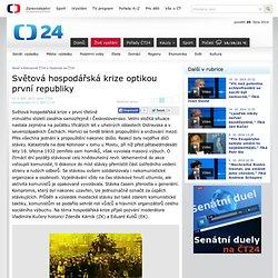 Světová hospodářská krize optikou první republiky — Osobnosti na ČT24