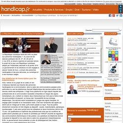 Loi République numérique : du neuf pour le handicap ! - Accessibilité (8786)