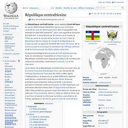 CentrAfrique ou République centrafricaine