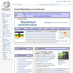 Portail:République centrafricaine