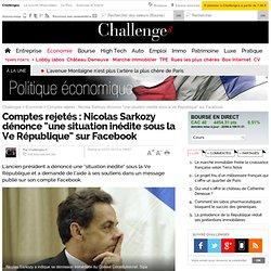 Le Conseil constitutionnel rejette le compte de campagne 2012 de Sarkozy qui démissionne