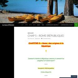 CHAP 5 – Rome (République)