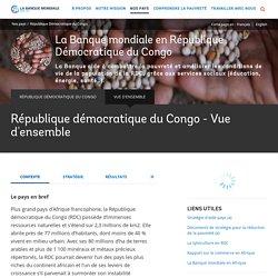 République démocratique du Congo - Vue d'ensemble