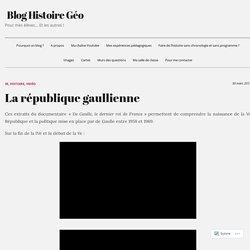 La république gaullienne – Blog Histoire Géo