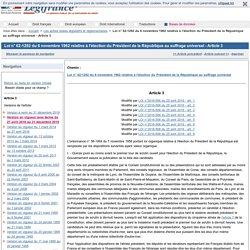 Loi n° 62-1292 du 6 novembre 1962 relative à l'élection du Président de la République au suffrage universel - Article 3