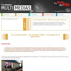 11 novembre 1943 – 11 novembre 2013 : l'hommage de la République