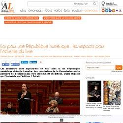 Loi pour une République numérique : les impacts pour l'industrie du livre
