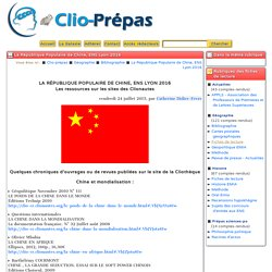 La République Populaire de Chine, ENS Lyon 2016