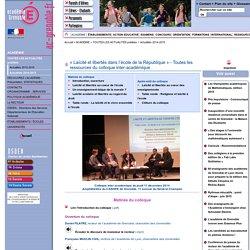 « Laïcité et libertés dans l'école de la République » - Toutes les ressources du colloque inter-académique