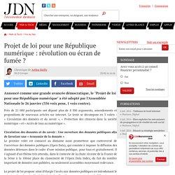 Projet de loi pour une République numérique : révolution ou écran de fumée ?