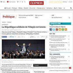La République solidaire de Villepin est lancée