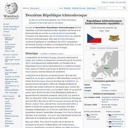 Deuxième République tchécoslovaque