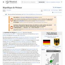 République de Weimar