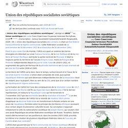 Union des républiques socialistes soviétiques