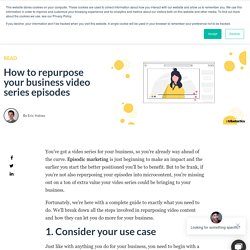 How to repurpose your business video series episodes