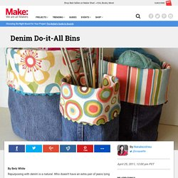 Repurpose Denim: Sew Do-it-All Bins