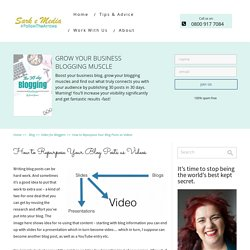 How to Repurpose Your Blog Posts as Videos