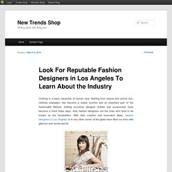 Look For Reputable Fashion Designers in Los Angeles To Learn About the Industry