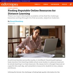 How to Find Reputable Online Resources for K-12 Distance Learning