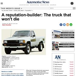 A reputation-builder: The truck that won't die