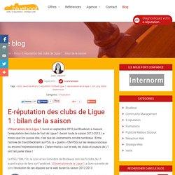 E-réputation des clubs de Ligue 1 : bilan de la saison