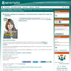 Identité numérique et e-réputation : Une brochure pour comprendre et agir (CIJ Aquitaine)
