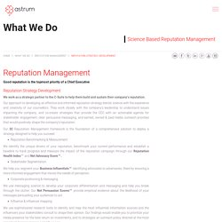 Reputation Management Strategy Development by Astrum