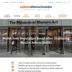 MoMA Sees Reputation Boost After Displaying Muslim Artists (DATA) - Colleen Dilenschneider
