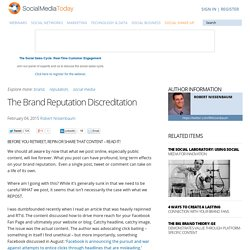 The Brand Reputation Discreditation