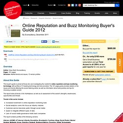 Online Reputation and Buzz Monitoring Buyer's Guide 2012