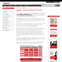 e-réputation : Typologie des risques liés à l'eréputation: impac