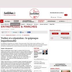 Twitter et e-réputation : le quiproquo impardonnable