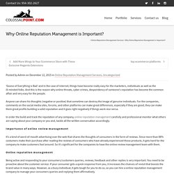Why Online Reputation Management is Important? -