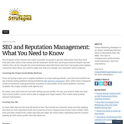 SEO and Reputation Management: What You Need to Know