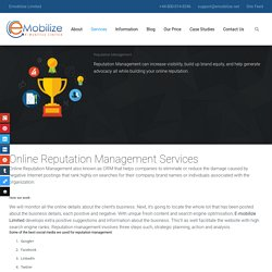 Reputation Management - Emobilize Limited