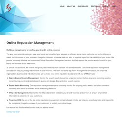 Online Reputation Management (ORM) Services Provider