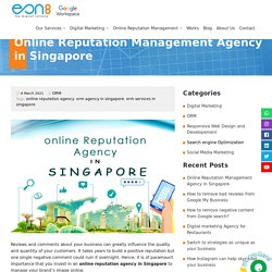 Online Reputation Management Agency in Singapore