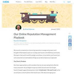 Our Online Reputation Management Playbook