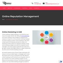 Online Reputation Management Services In UAE