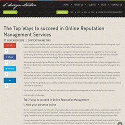 The Top Ways to succeed in Online Reputation Management Services