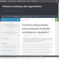 Comment certains réseaux sociaux associent-ils identité numérique et e-réputation? – Présence numérique des organisations