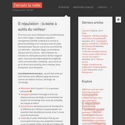 E-réputation : la boite à outils du veilleur