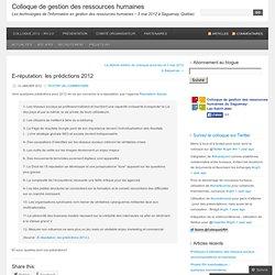 E-réputation: les prédictions 2012 « Colloque de gestion des ressources humaines