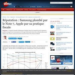 Réputation : Samsung plombé par le Note 7, Apple par sa pratique fiscale - ZDNet