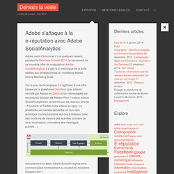 Adobe s'attaque à la e-réputation avec Adobe SocialAnalytics