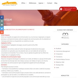 Lexique veille, e-réputation & stratégie web - Blueboat