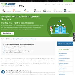 Hospital Reputation Management Services, Online Healthcare Reputation