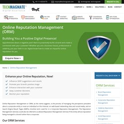 ORM Services Company India, Best Online Reputation Management Service Delhi